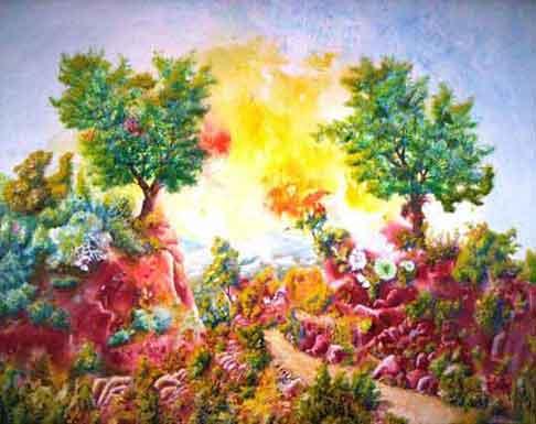 Disegnare e dipingere con matite colorate for Disegni colorati paesaggi