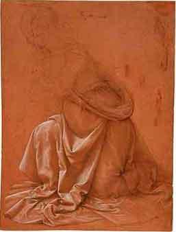 disegno Leonardo - studio di panneggio