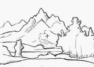 Pin disegni paesaggi naturali colorare per bambini for Paesaggi semplici da disegnare