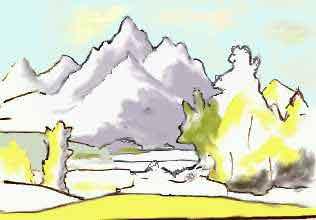 Pin disegni colorare quelli barbie segreto delle fate for Paesaggi semplici da disegnare