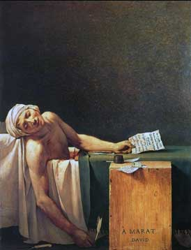 Jacques Louis David, Marat assassinato