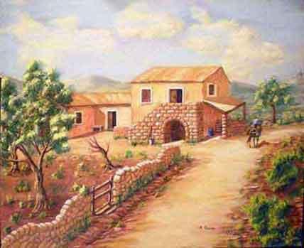 Arte pittura quadri a tempera for Paesaggi semplici da disegnare