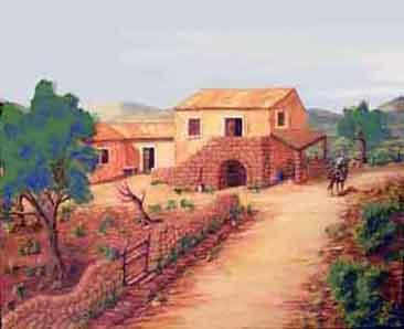 Dipingere con i colori a tempera benvenuti su goccediperle for Disegni di cabina di campagna